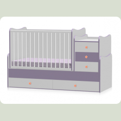 Кроватка Bertoni MAXI PLUS (white/violet)