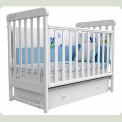 Кроватка для новорожденных 12 (шухлядка+маятник) лапки