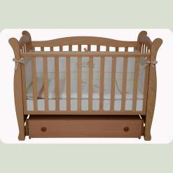 Кроватка для новорожденных 15 (шухлядка+маятник)