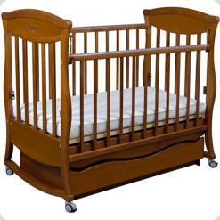 Кроватка Грация 2 ящика + маятник (орех)