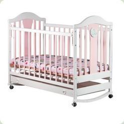 Кроватка Laska-M Наполеон NEW Mix без ящика (розовая)