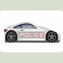 """Кроватка-машина """"Полиция-1"""", белая"""