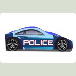 "Кроватка-машина ""Полиция-1"", синяя"