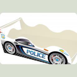 """Кроватка-машина """"Полиция-2"""", белая"""