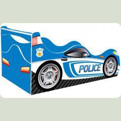 """Кроватка-машина """"Полиция-2"""", голубая"""