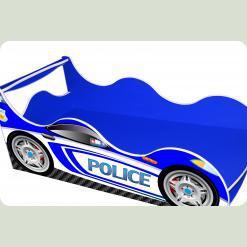 "Кроватка-машина ""Полиция-2"", синяя"