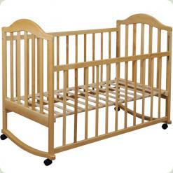 Кроватка Наполеон (без ящика) натур.