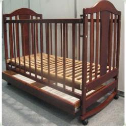 Кроватка Наполеон NEW с ящ. (ольха тонир.) Кнопка
