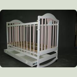 Кроватка Наполеон NEW с ящ. (розовая) mix
