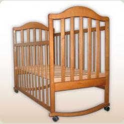 Кроватка Наполеон с ящиком (нат. ольха)