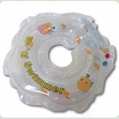 Круг для купания Baby Swimmer с погрем. (прозр)