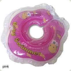 Круг для купания Baby Swimmer с погрем. (розовый)