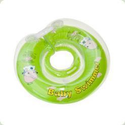 Круг для купания до 36 мес Baby Swimmer с погремушкой (розовый)