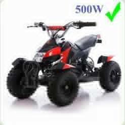 Квадроцикл HB-6 EATV: до 80кг, 30км/час 500W металлический, красный