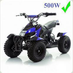 Квадроцикл HB-6 EATV: до 80кг, 30км/час 500W металлический, синий