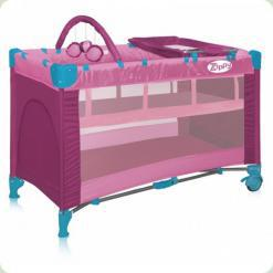 Манеж Bertoni ZIPPY 2L+ (pink)