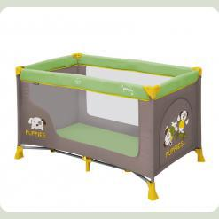 Манеж Just4kids NANNY 1L (green beige puppies)