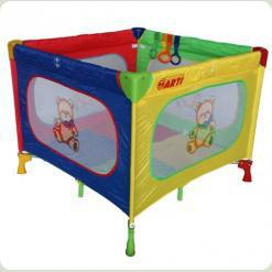 Разноцветная раскраска манежа-кровати Arti Basic K1 (квадрат)