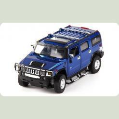 Машинка р/у 1:24 Meizhi лиценз. Hummer H2 металлическая (синий)