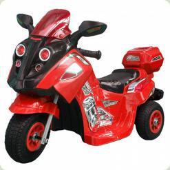 Мотоцикл детский (Надувные резиновые колеса), красный