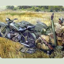 Мотоцикл М-72 с минометом