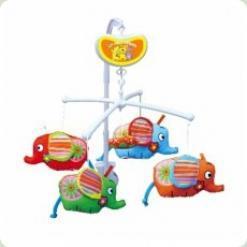Музыкальный мобиль Biba Toys Слонята (118BM)