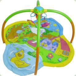 Музыкальный развивающий коврик Biba Toys Танец звезд с мобилем (073BP)