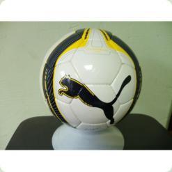 Мяч футбольный PUMA 0220-W/Y бело-желтый
