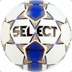 Мяч футбольный SELECT Mistral № 5  бело-син-зол