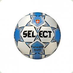 Мяч футбольный SELECT Talento № 5  бело-синий