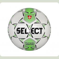 Мяч футзал SELECT Mimas  бело-зеленый