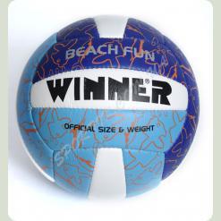 Мяч волейбольный W Beach Fun сине-голубой