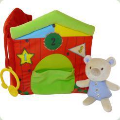 Мягкая книжечка с кольцом Biba Toys Медвежонок (044BB)