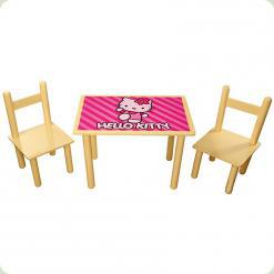 Набор стол и 2 стульчика Китти