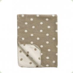 Одеяло-плед в горошек Womar Zaffiro 100% хлопок 100х150 см Серый/Бежевый