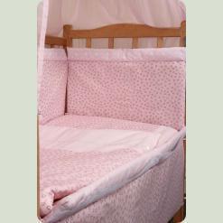 Ограждение защитное в кроватку с кружевом и органайзером
