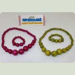 Ожерелье Украиночка (25 см) + браслет разноцветный