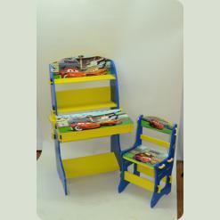 Парта Baby Tilly W02-5411 со стулом Тачки