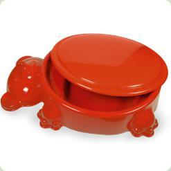 Песочница Mochtoys 10039 с крышкой Мишка Красный