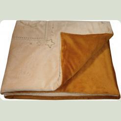 Плед меховый в кроватку утеплённый, синтепон, 75х120