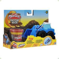 """Плей До, Игровой набор с массой для лепки """"Машинки для строительства дорог"""""""
