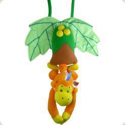 Подвесная музыкальная игрушка Biba Toys Счастливая обезьянка (659BM)