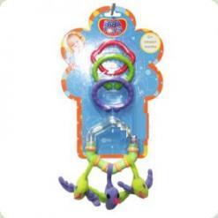 Погремушка-подвеска с кольцом и прорезывателем Biba Toys Птички (107PP)