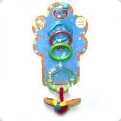 Погремушка-подвеска с кольцом и прорезывателем Biba Toys Самолетик (109PP)