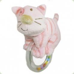 Погремушка с кольцом Biba Toys Кошечка (618QB cat)