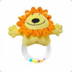 Погремушка с кольцом Biba Toys Львенок (618JF lion)