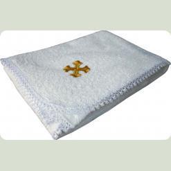 Полотенце для крещения с золотой или серебряной вышевкой