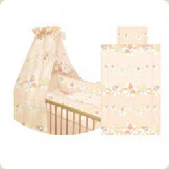 Пост. к-т Lorelli Lili (защита 4 ед., подушка, простынь, одеяло), (роз. с гриб.)