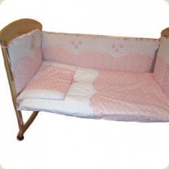 Постельный комплект Ассоль Ладушка Бело-розовый