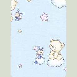 Постельный комплект Ассоль Сменный Мишки маленькие Голубой